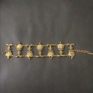 1993 Warner Bro's Tweety gold plated bracelet